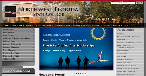 Lyndsi on the homepage of NWFSC.edu!