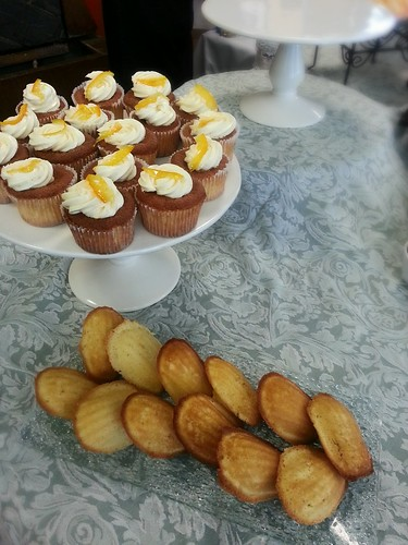orange chiffon cupcakes and Madeleines by pipsyq
