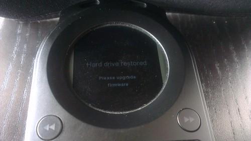 Hard drive restored