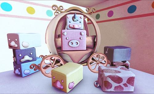 Animal cube stool