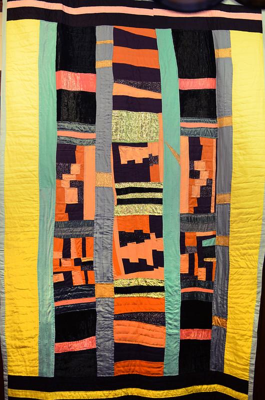 Improvisational quilt by Eli Leon