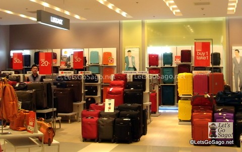 Travel Luggages Section in the department store