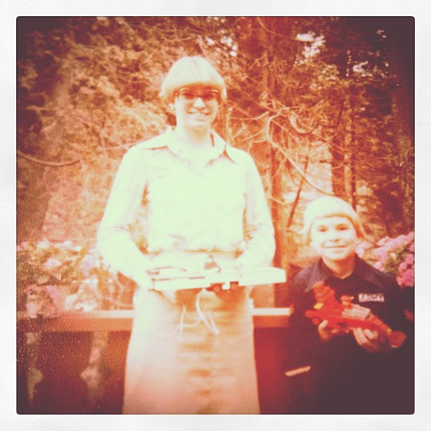 Apr 15 - when I was 16 {this is me with my little brother} OMG look at those glasses!!! #photoaday #family