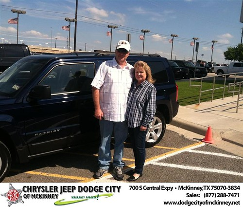 Dodge City of McKinney would like to say Congratulations to Carolyn Birdwell on the 2013 Jeep Patriot by Dodge City McKinney Texas