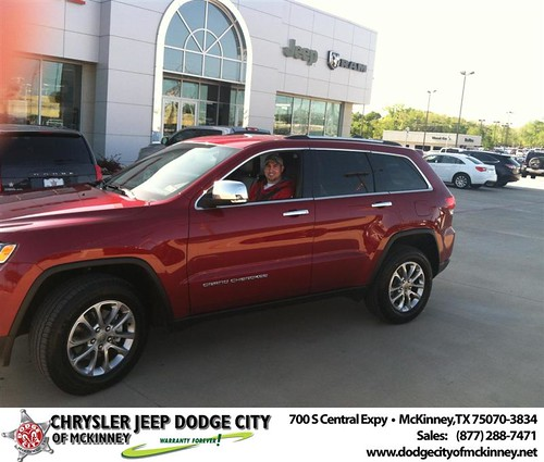 Dodge City of McKinney would like to say Congratulations to Clint McCullick on the 2014 Jeep Grand Cherokee by Dodge City McKinney Texas