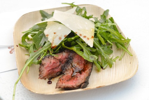 Grilled Beef Tagliata, Rucola & Parmigiano with Aged Balsamico - Nancy Silverton (Mozza, LA)