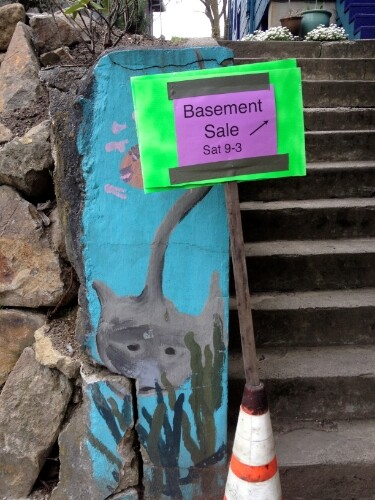 Basement sale entrance