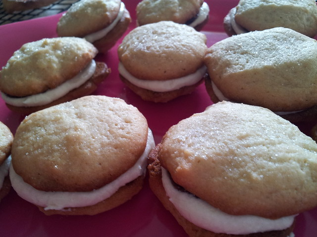 Mini Lemon Cream and Raspberry Cookies