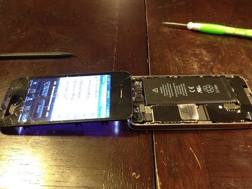iPhone screen repair by Aaron Paxson