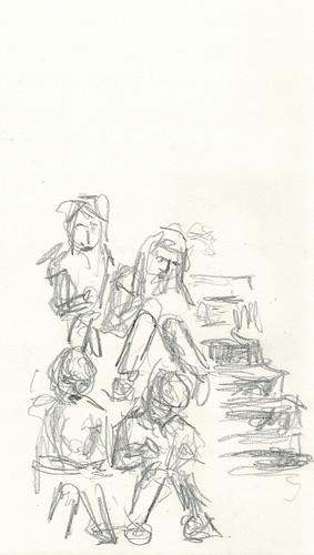 sketchers sketching by husdant
