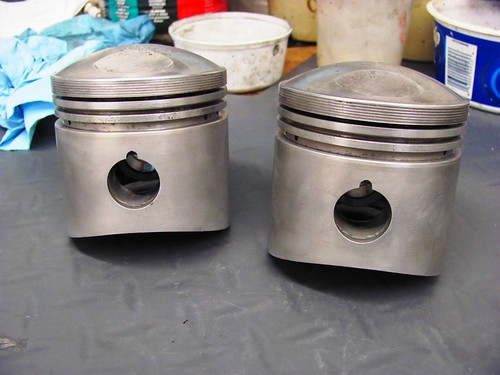 Pistons After Soaking and Toothbrushing