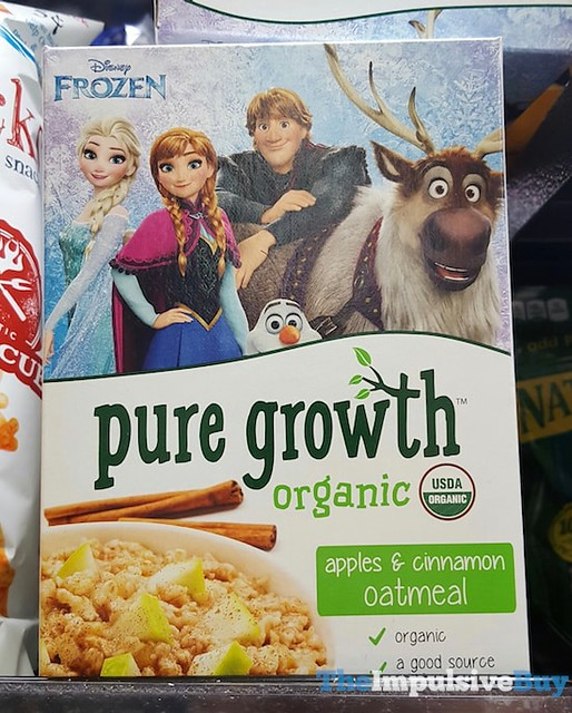 Pure Growth Organic Apples & Cinnamon Oatmeal
