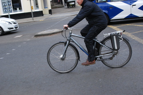 E-bike for a quicker get away into the head wind