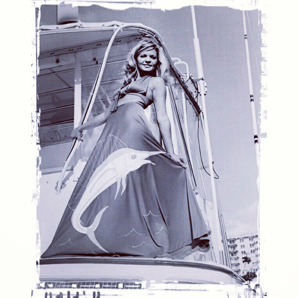 Fashion Ahoy!! [1974] #sailfish #dress #florida #style #fashion #oldgoldfiltered #filmisnotdead