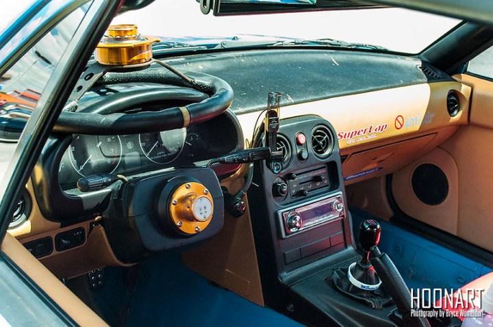 Miata stance car interior