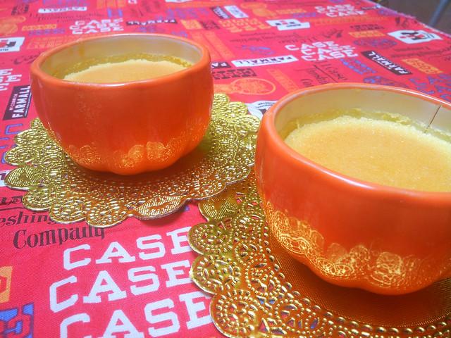 Orange cotton cheese cake