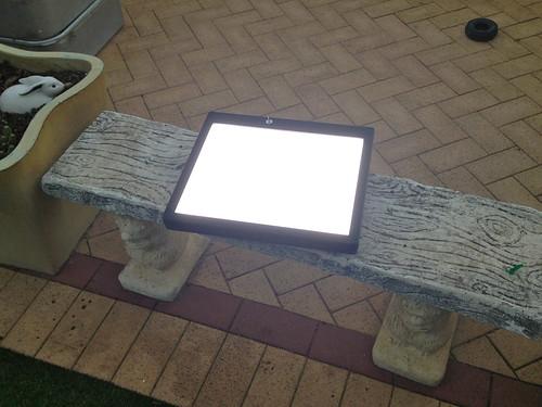 En la mesa de luz