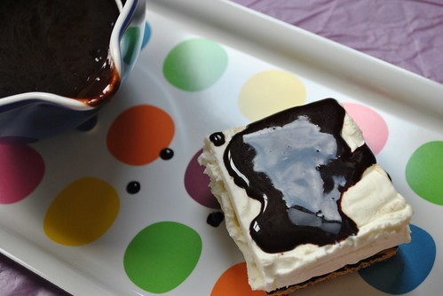 Top with chocolate syrup