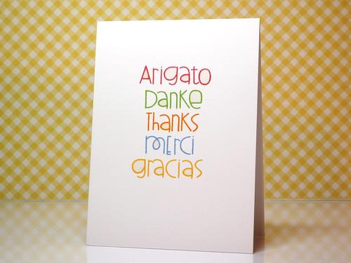 Thanks Gift Set - Card