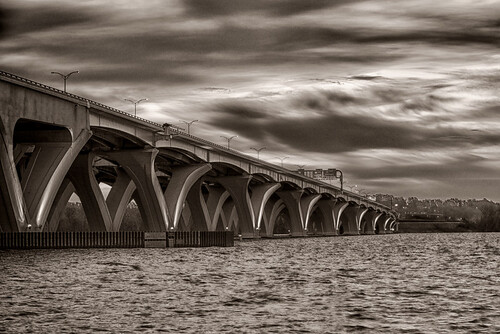 The Woodrow Wilson Bridge, Washington, DC by threewhln