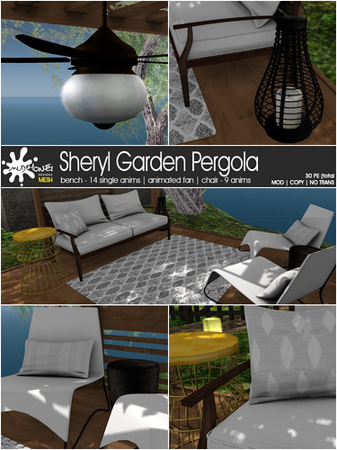 MudHoney Sheryl Garden Pergola