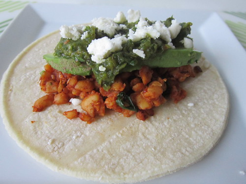 Tempeh Tacos with Roasted Poblano Salsa
