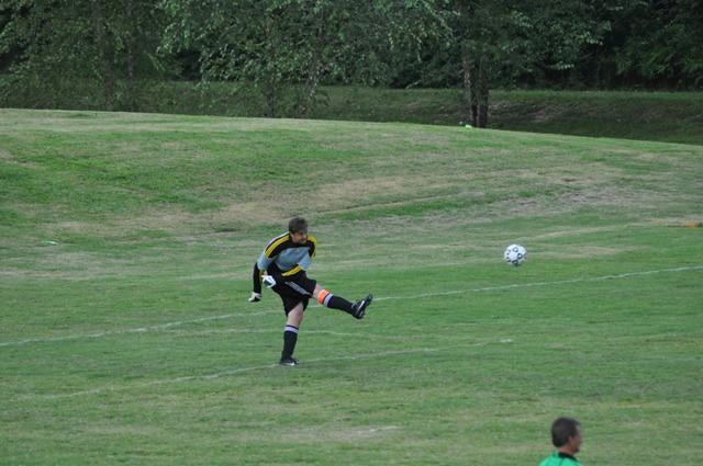 Mason Bird with the big kick