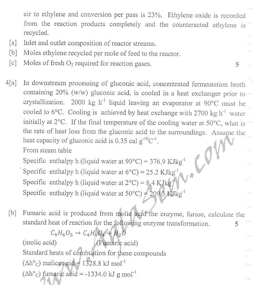 DTU Question Papers 2010 – 5 Semester - Mid Sem - BT-305