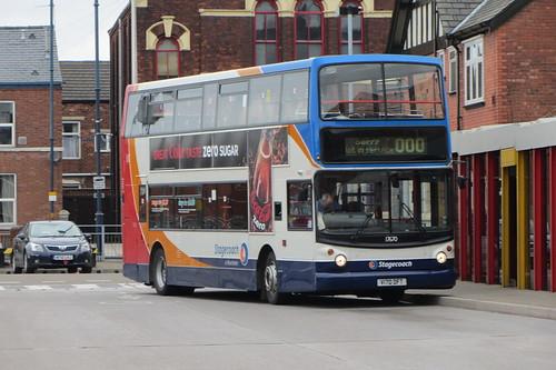 Dennis Trident, Stagecoach Manchester, V170 DFT, Ashton-under-Lyne bus station