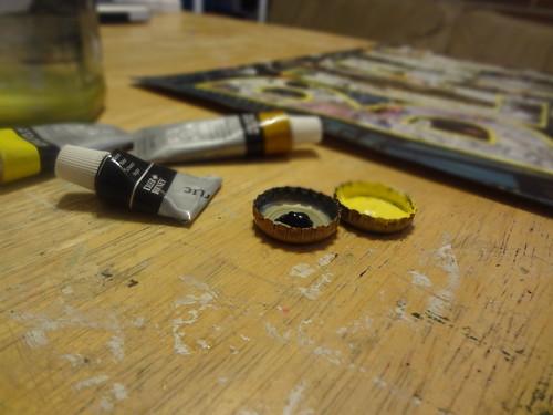 Bottlecap paint palette