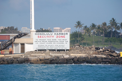 Security Zone sign