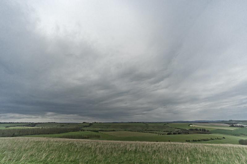 Grey clouds over Salisbury Plain