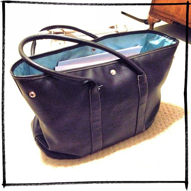 May 2 - briefcase {this is mine; ready to go} #photoaday #briefcase @missyfowler47