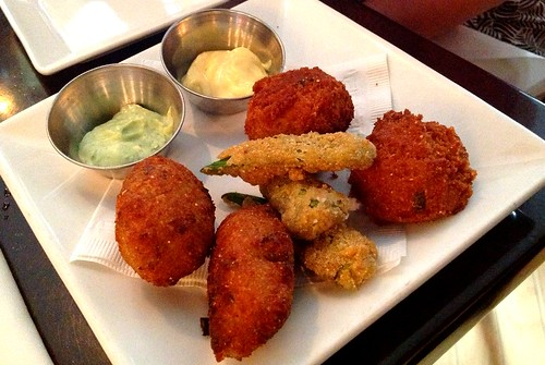 Appetizer - Hush-puppies and Fried Okra