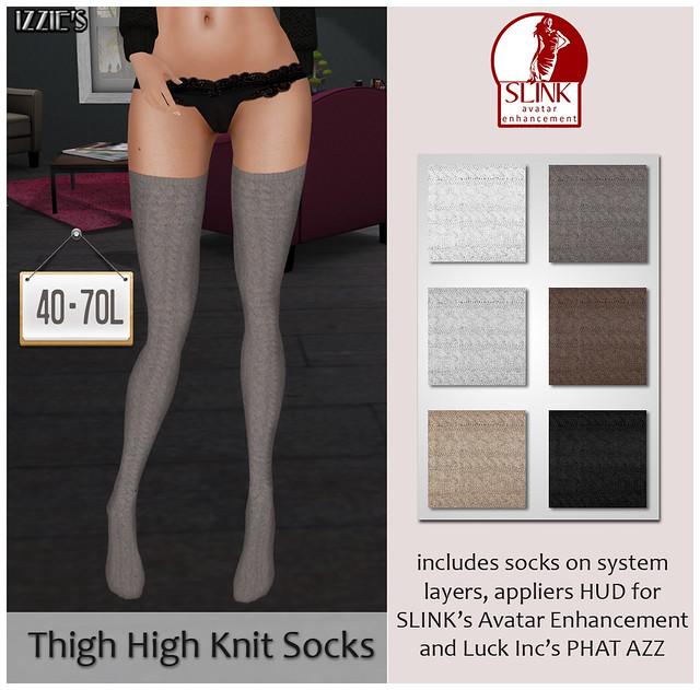 TDR Fusion (Thigh High Knit Socks)