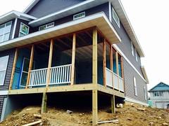 Screen porch progress!