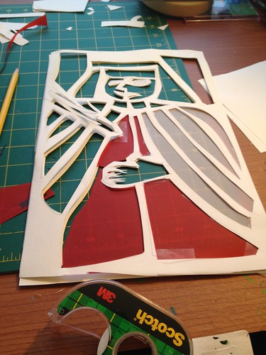 """Thirty days of making: """"stained glass"""" panel"""