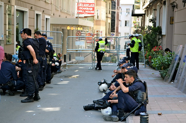 For the police of Istanbul, it was a regular occurrence and some waved as I took photos.