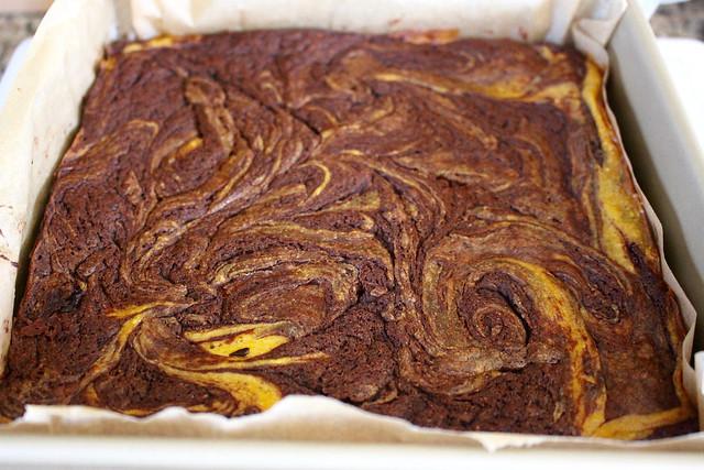 Pumpkin Swirl Cheesecake Brownies - 30