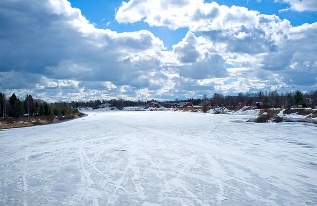 River Ounasjoki, Kittilä, Lapland, Finland