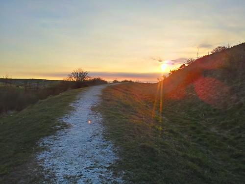 sunrise on cissbury by South Downs MTB Skills