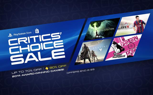 PS Store: Critics Choice Sale