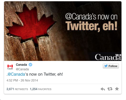 Canada on Twitter