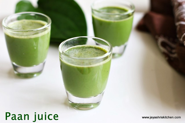 Betel-leaves juice