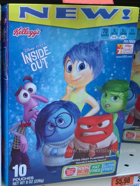 Kellogg's Disney Pixas Inside Out Fruit Flavored Snacks