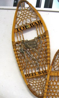 toe and heel bar- traditional snowshoes