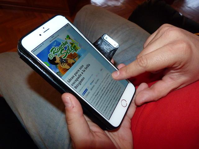 Probando la versión móvil de El rincón de Sele