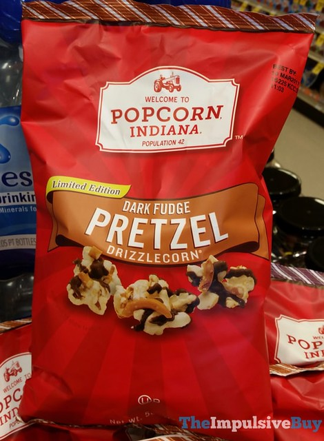Popcorn Indiana Limited Edition Dark Fudge Pretzel Drizzlecorn
