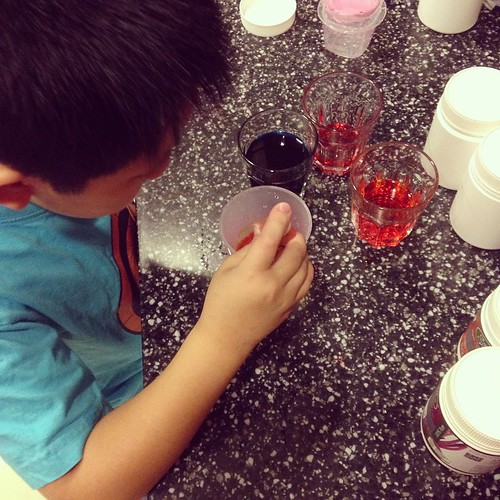 My Harry Potter in potions class... Working on Felix felicis aka liquid luck...