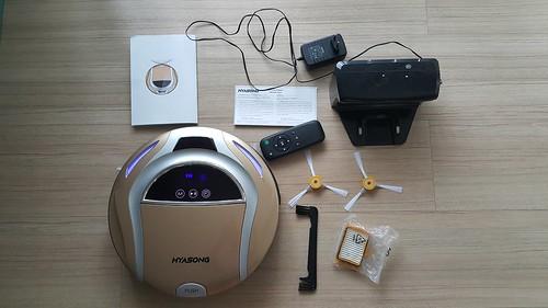 อุปกรณ์ที่มากับกล่องหุ่นดูดฝุ่น Hyasong VR-101